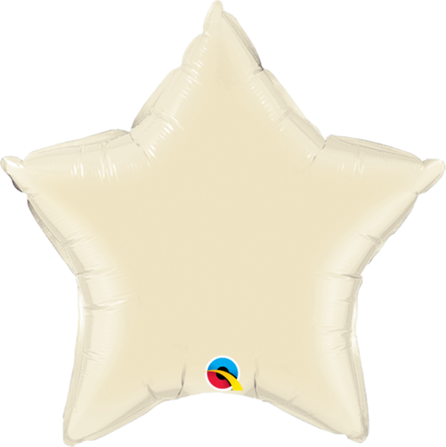 Ivory Foil Star Balloon 20 inch
