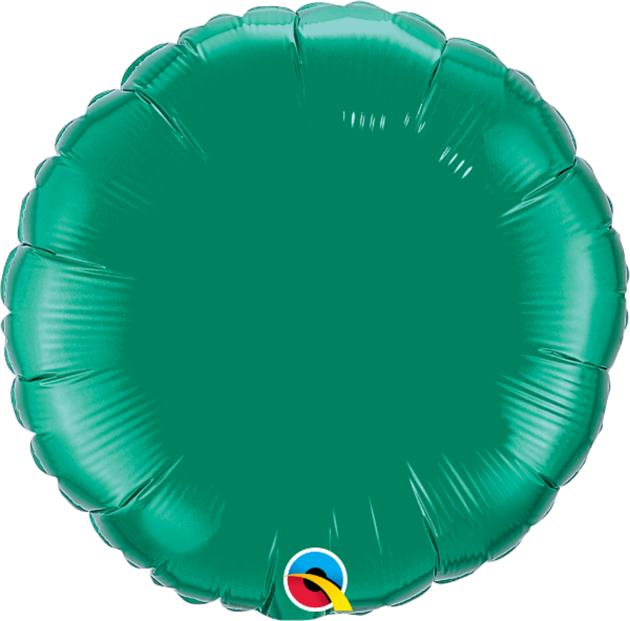 Green Foil Round Balloon 18 inch