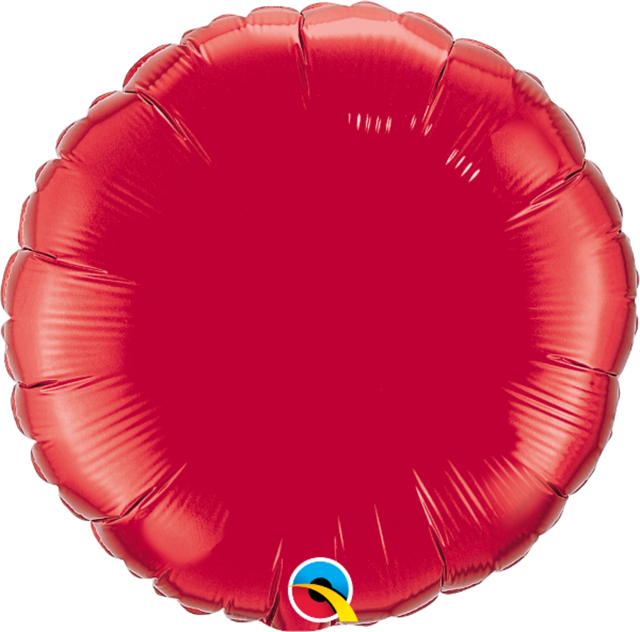 Red Foil Round Balloon 18 inch