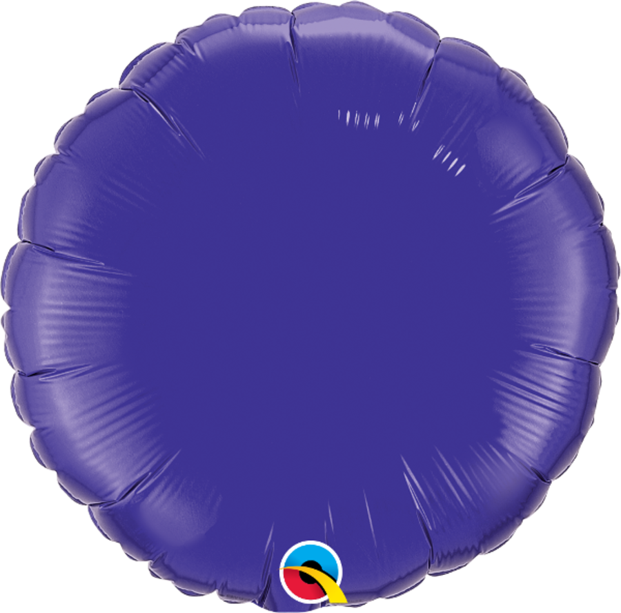 Purple Foil Round Balloon 18 inch