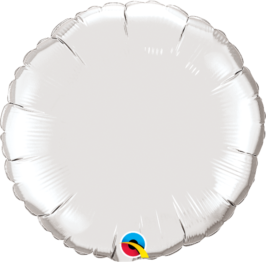 Silver Foil Round Balloon 18inch