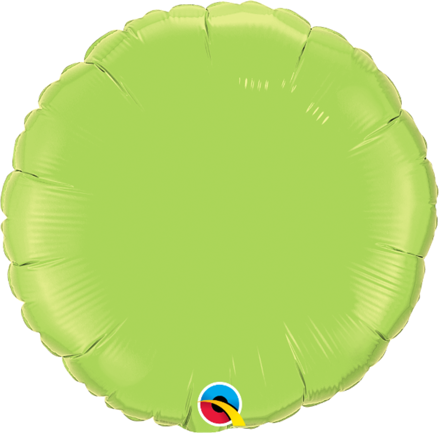 Lime Green Foil Round Balloon 18inch