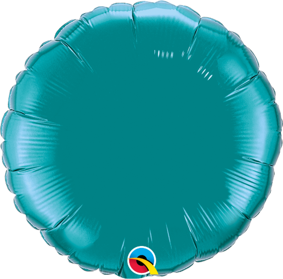 Teal Foil Round Balloon 18inch
