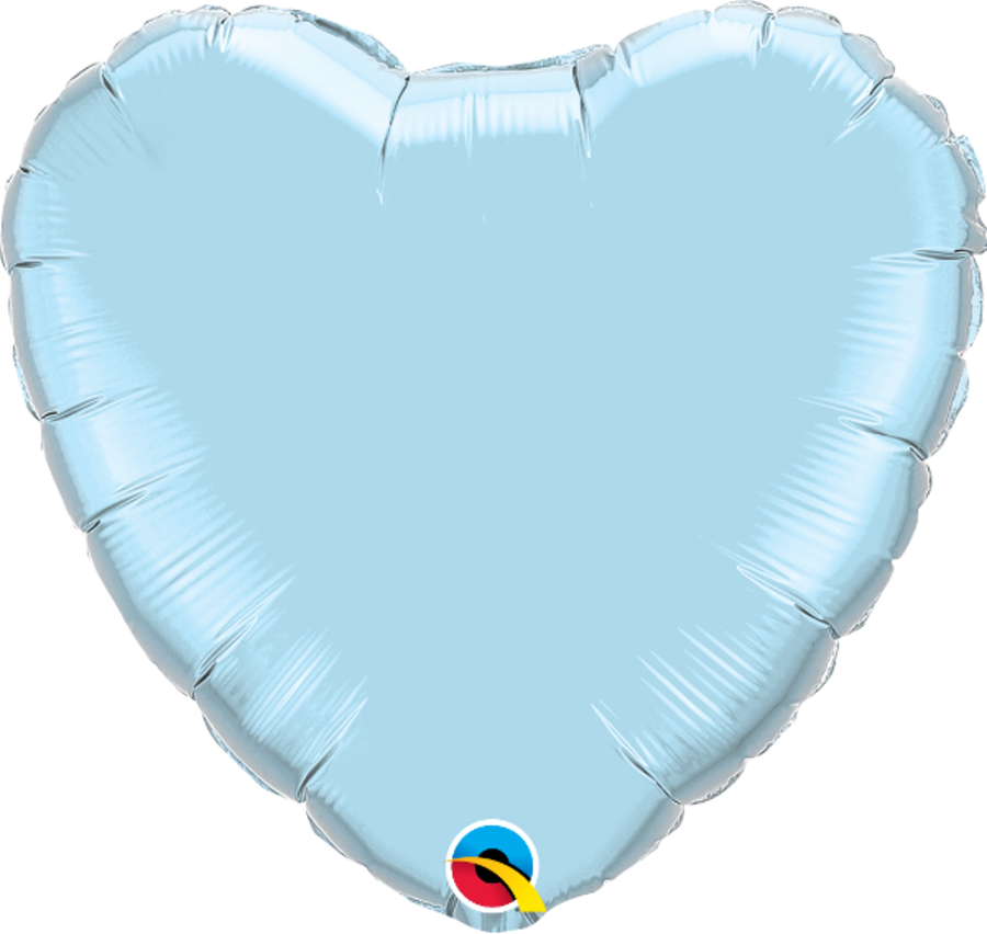 Light Blue foil Heart Balloon 18inch