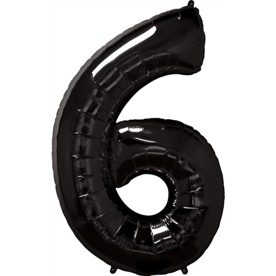Jumbo Foil Balloon Number 6 - Black