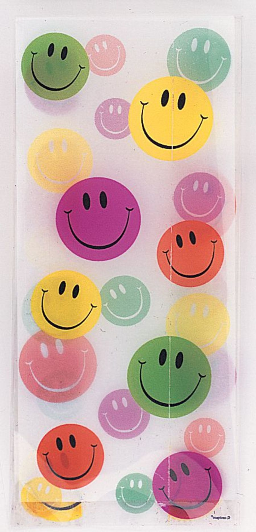 Smiley Face Cello Bags - Pack of 20