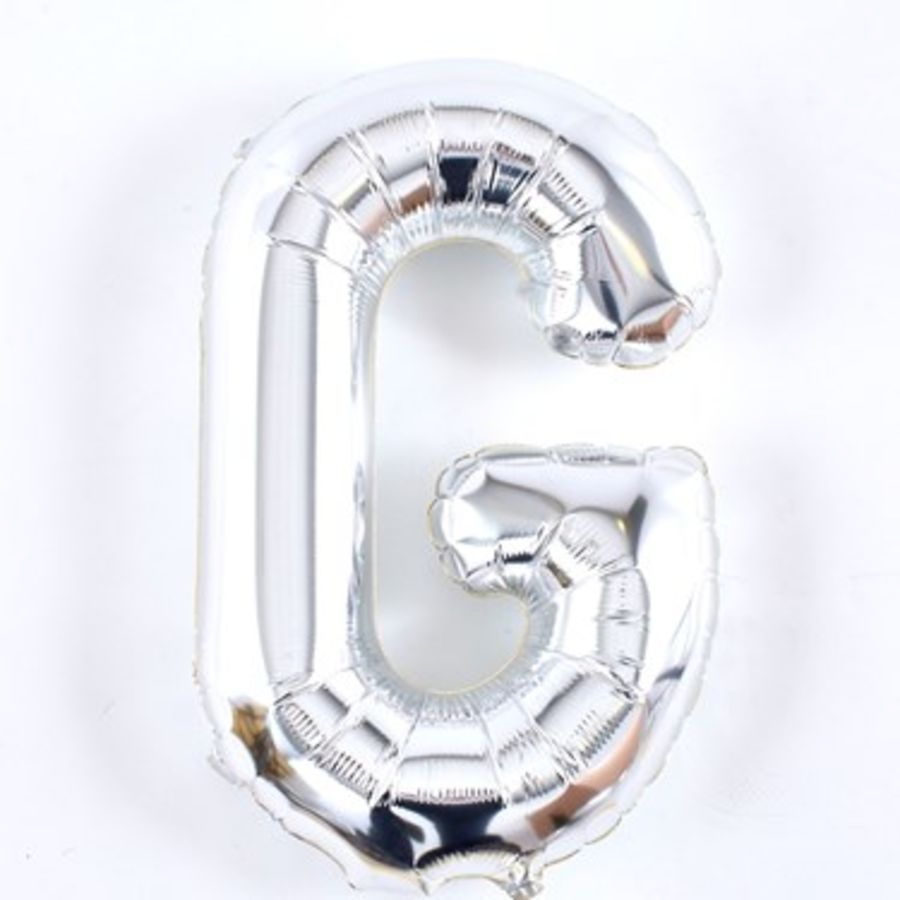 16 Inch Foil Balloon Letter G - Silver
