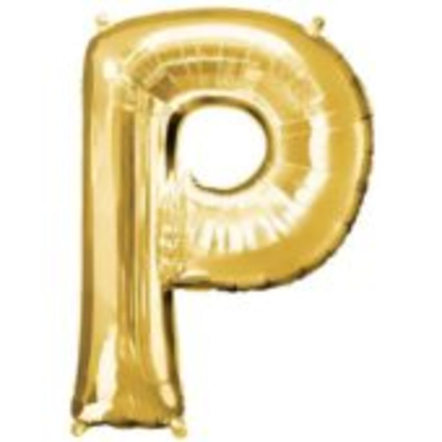 16 Inch Foil Balloon Letter P - Gold