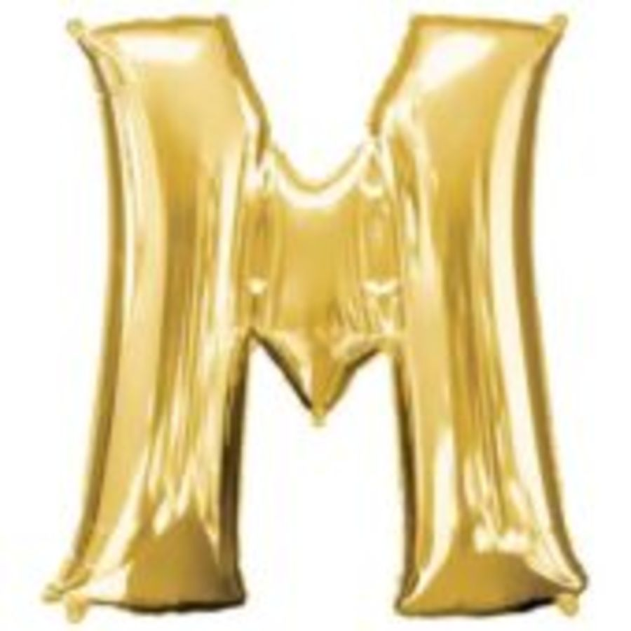 16 Inch Foil Balloon Letter M - Gold_copy
