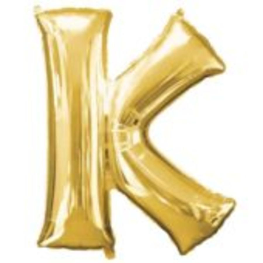 16 Inch Foil Balloon Letter K - Gold_copy