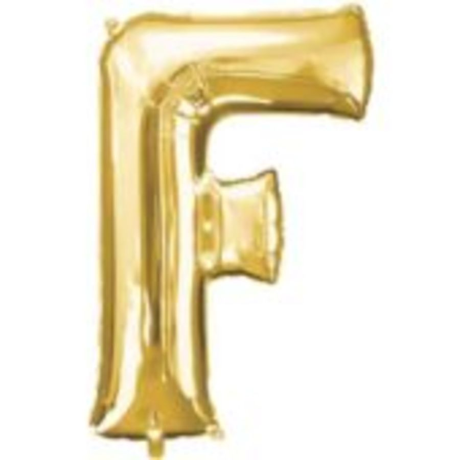 16 Inch Foil Balloon Letter F - Gold_copy