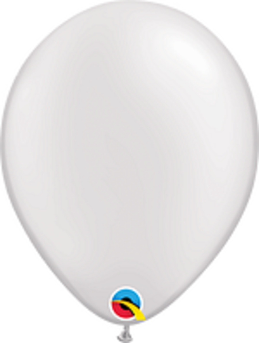Pearl White 11 inch Latex Balloon