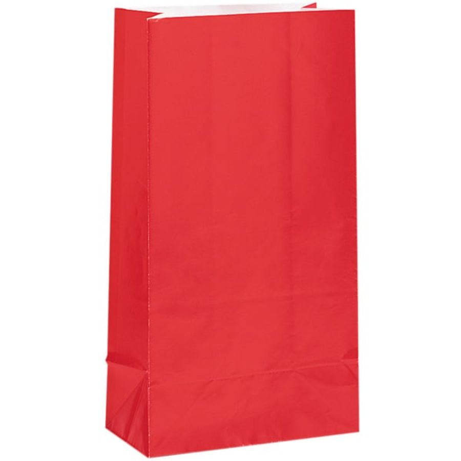 Red Paper Party Bag - Pack of 12