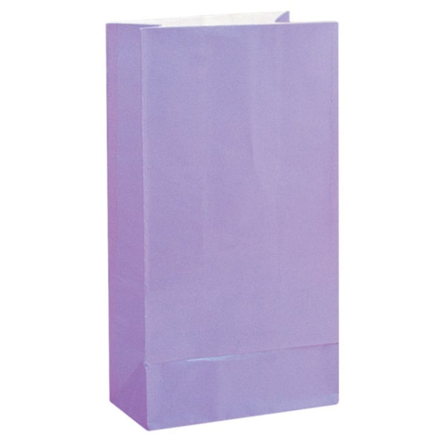 Lavender Paper Party Bag - Pack of 12