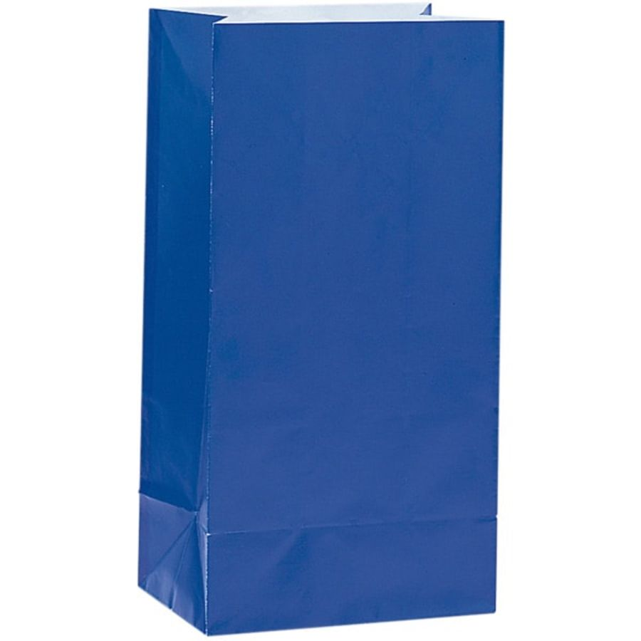 Royal Blue Paper Party Bag - Pack of 12