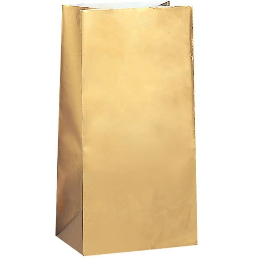 Gold Paper Party Bag - Pack of 10