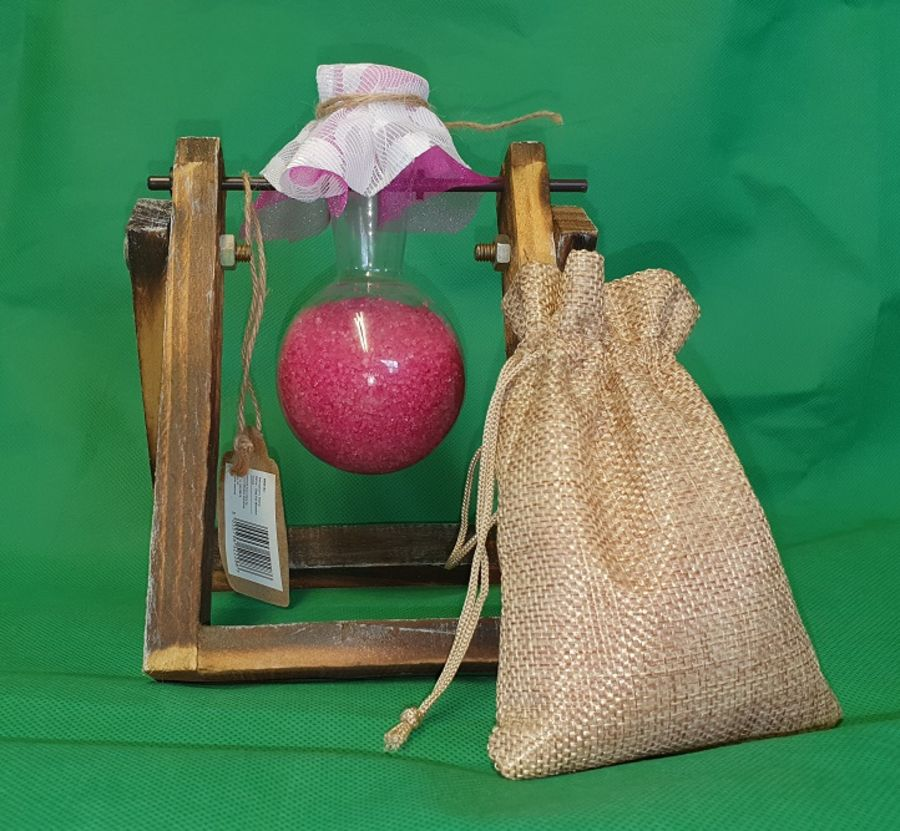 Hydroponic Home Décor - One Pot Wooden Stand. With approx 300g passion bath potion