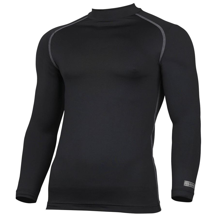 C5C. Rhino Long Sleeve Baselayer Top - Black - Child