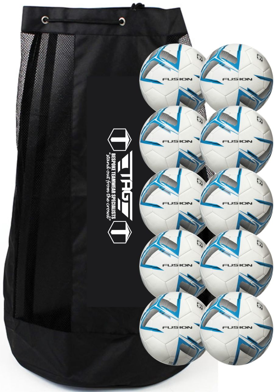 J6C. 10x Precision Fusion Training Ball's with Club Branded Ball Bag