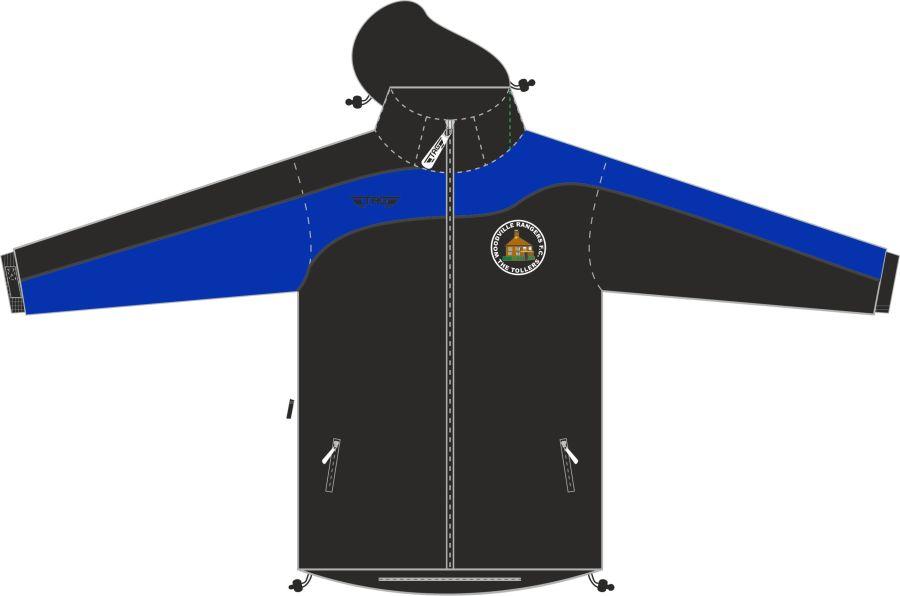 D4D. Woodville Rangers Rain Jacket - Adult**