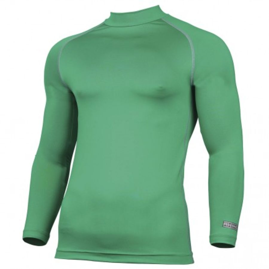 C2F. Rhino Long Sleeve Baselayer Top - Green - Adult