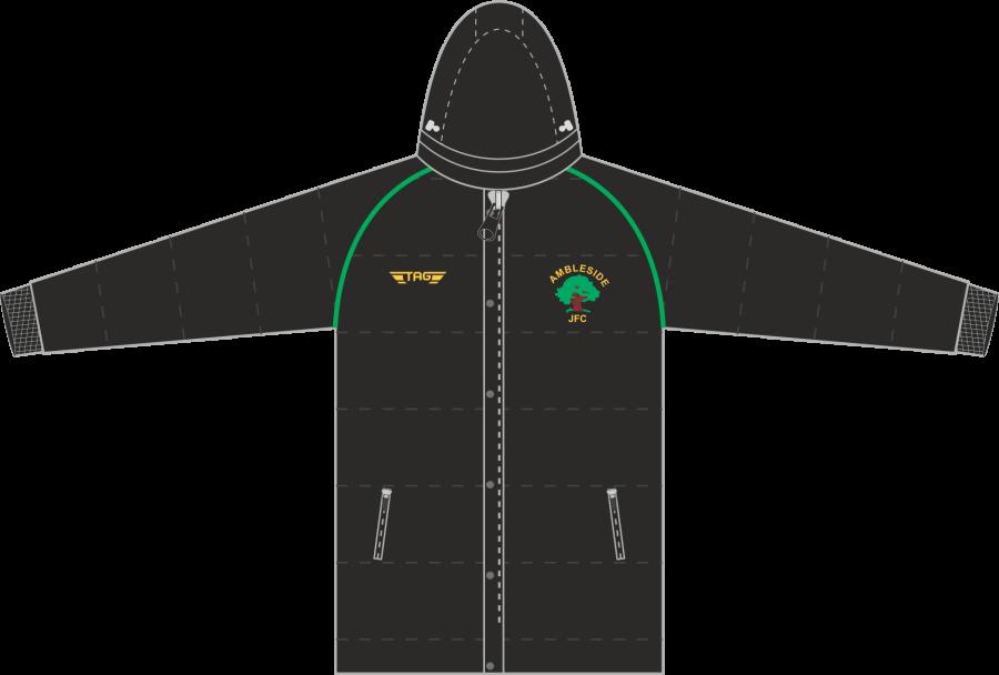 D5D. Ambleside JFC - Hip Length Puffa Jacket - Adult