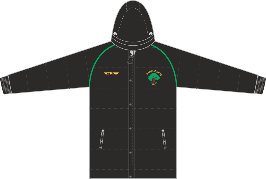 D5D. Ambleside JFC - Hip Length Puffa Jacket - Adult