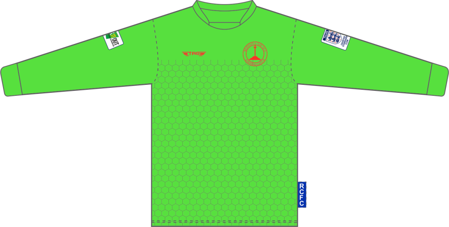 C4C. Repton Casuals Bright Green GK Set - Child