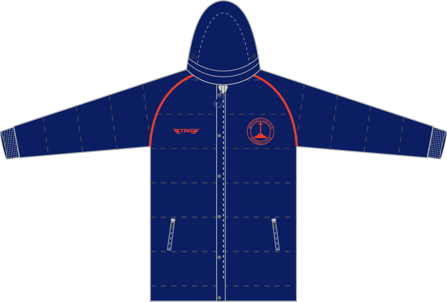 D5C. Repton Casuals Thigh Length Puffa Jacket - Child