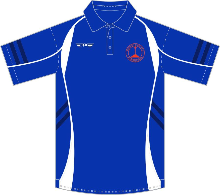 D8D. Repton Casuals New York Sports Polo - Blue - Managers Only**