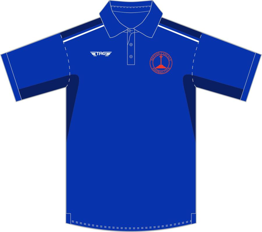 D8D. Repton Casuals Munich Sports Polo - Blue - Managers Only**