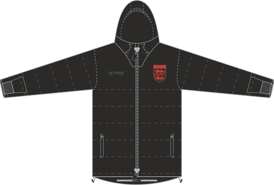 D5D. Coundon Court Hip Length Puffa Jacket - Adult