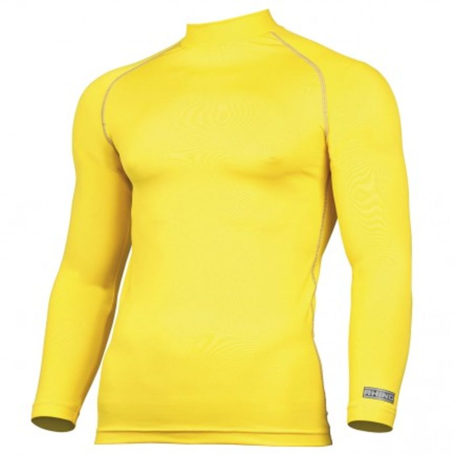 C5Y. Rhino Long Sleeve Baselayer Top - Yellow - Adult