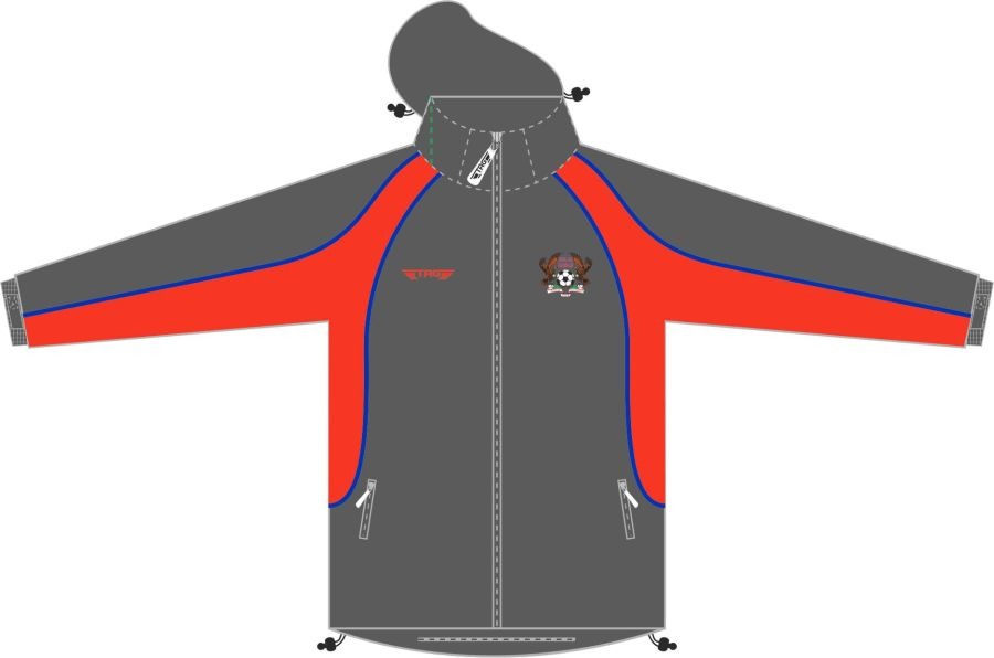 D4D. Halas Hawks Charcoal Rain Jacket (Mesh Lined) - Adult