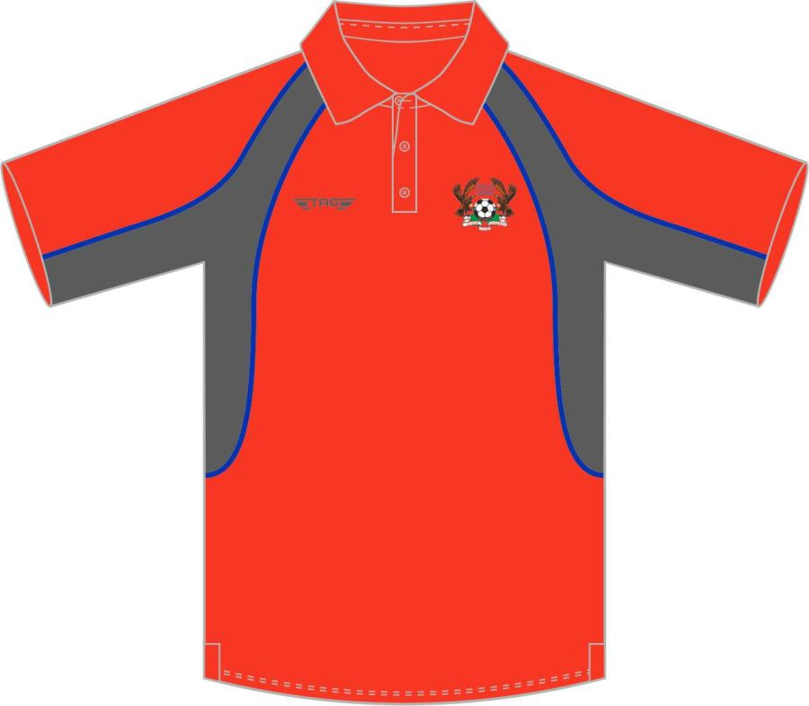 D8E. Halas Hawks Red Sports Polo - Child