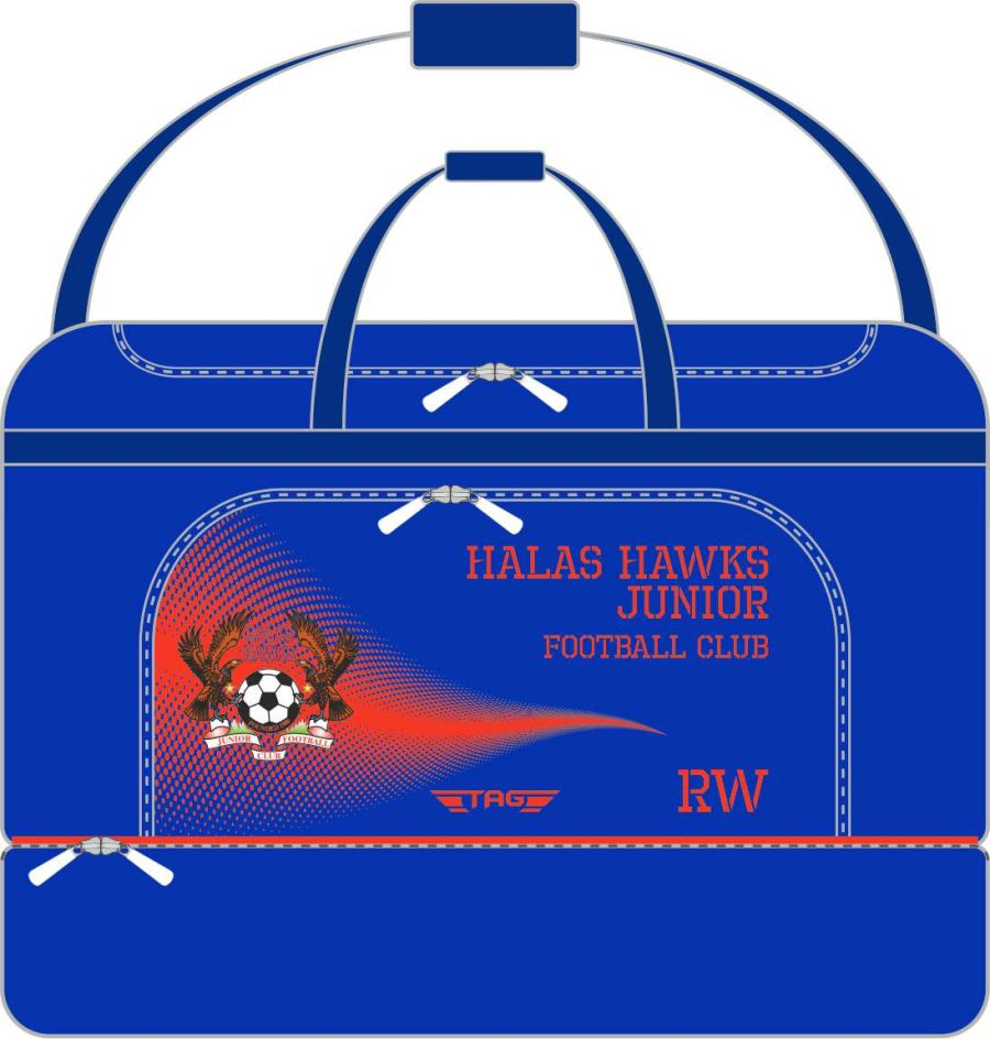 E2E. Halas Hawks Medium Players Kit Bag (min order of 10)**
