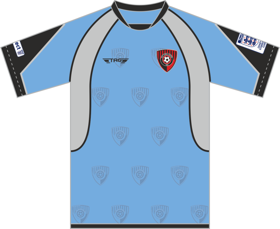 C3D. AFC Chellaston Sky Blue Away Match Jersey S/S - Adult