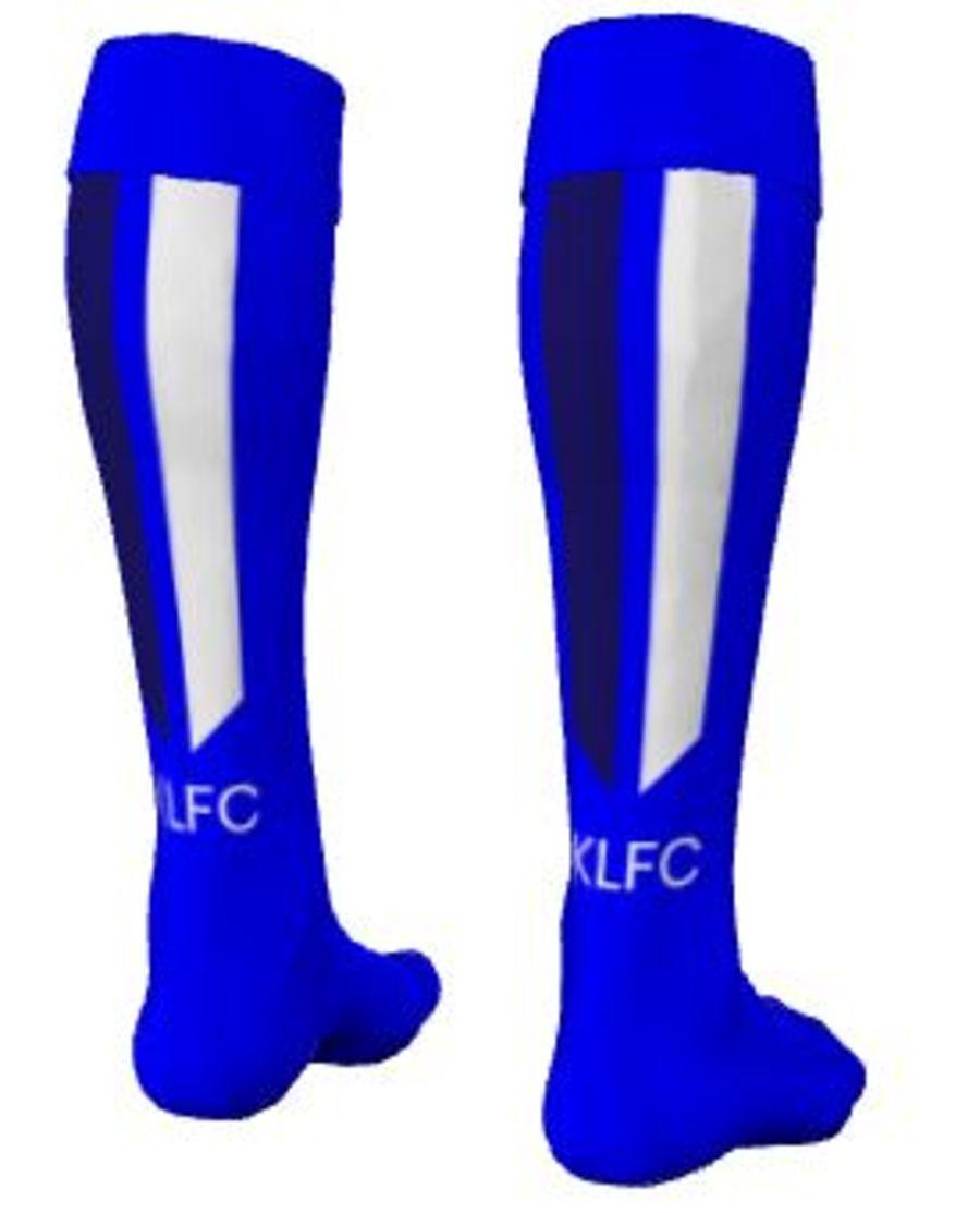 C2J.  Kidderminster Lions Home Match Sock - Adult (min order 15x per size)