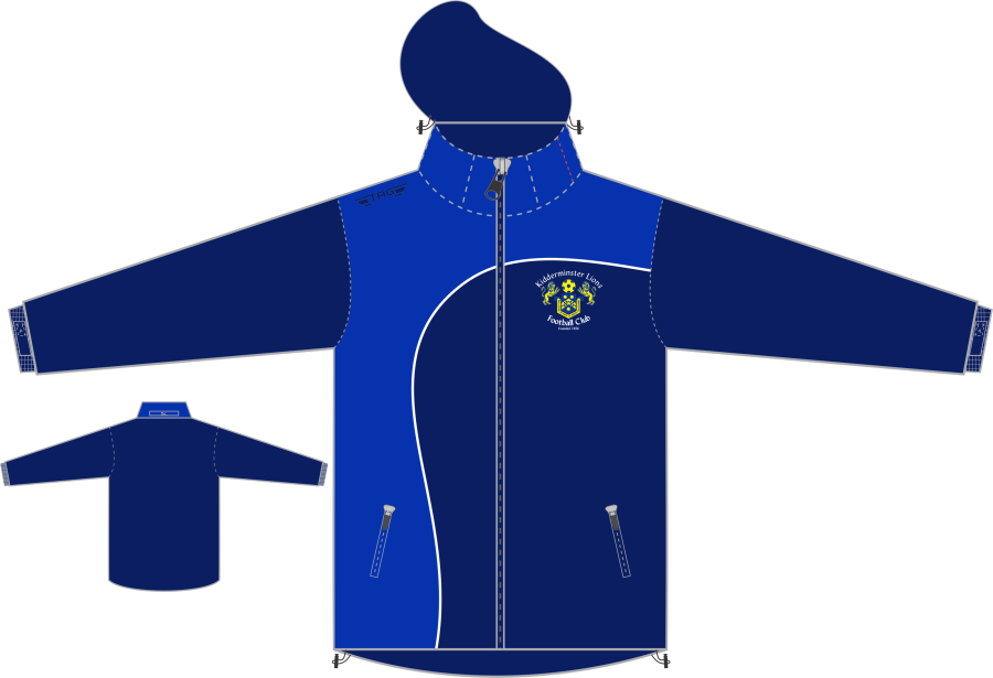 D4D. Kidderminster Lions Rain Jacket - Adult**