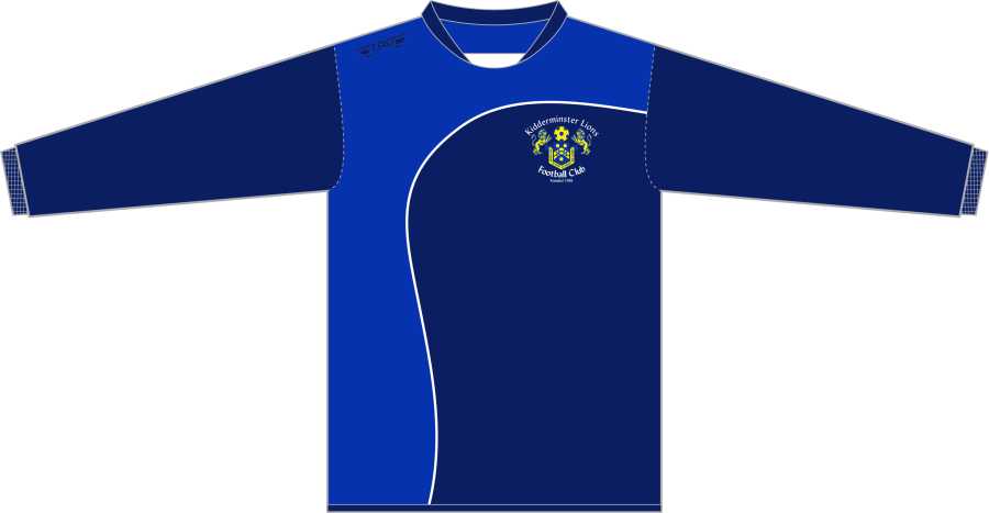 D6K. Kidderminster Lions Crew Neck Tech Midlayer Top Fitted - Child**