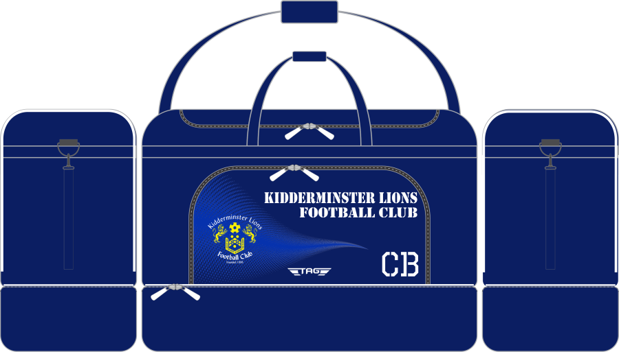 E2E. Kidderminster Lions Medium Players Kit Bag (min order of 10)**