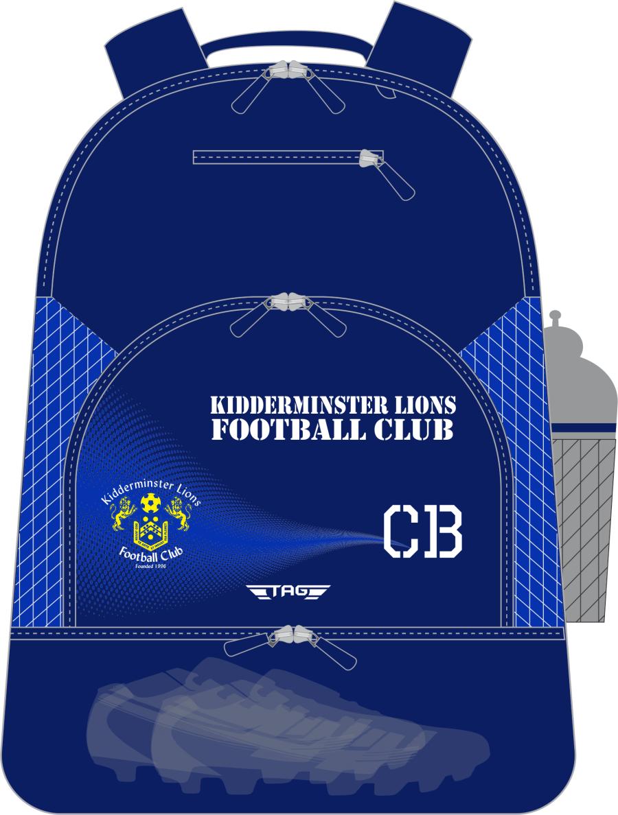 E2K. Kidderminster Lions Standard Backpack (min order of 10)**