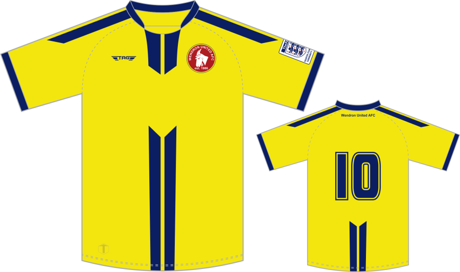 C3D. Wendron Away Match Jersey S/S - Adult