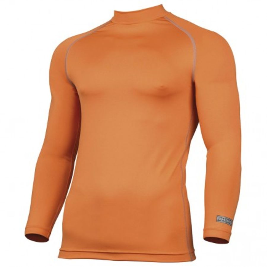 C5Z. Rhino Long Sleeve Baselayer Top - Orange - Adult