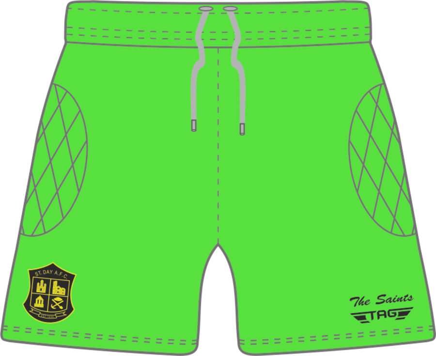 C4P. St. Day AFC Home GK Short - Adult