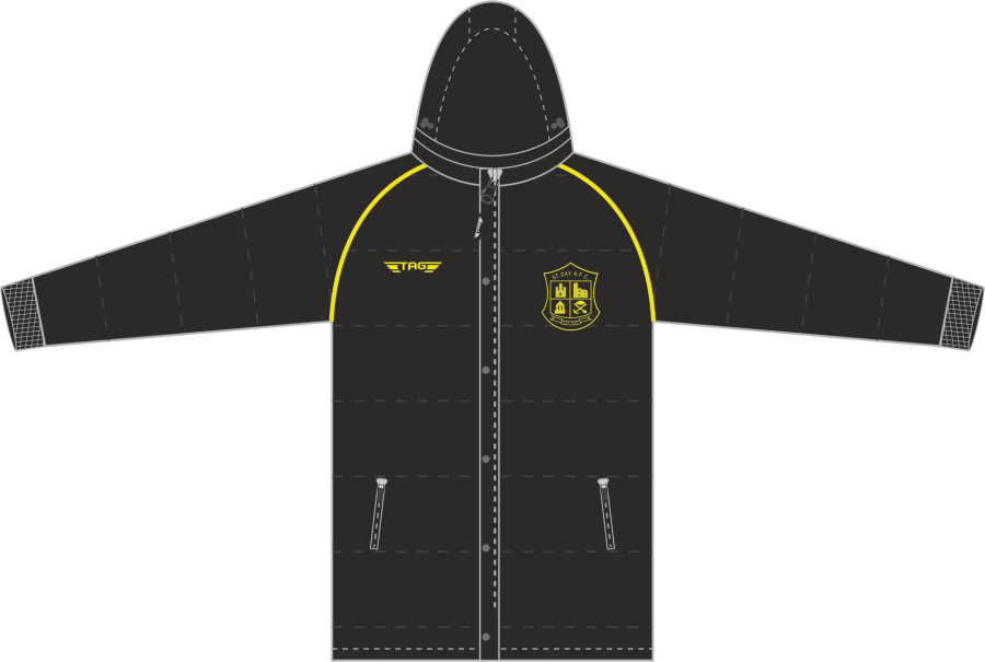 D5D. St. Day AFC Hip Length Puffa Jacket - Adult