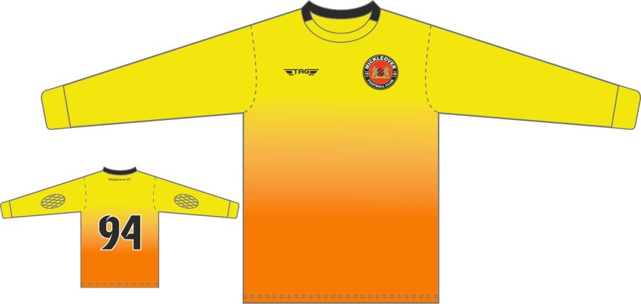 C4D. Mickleover FC Yellow GK Jersey - Adult