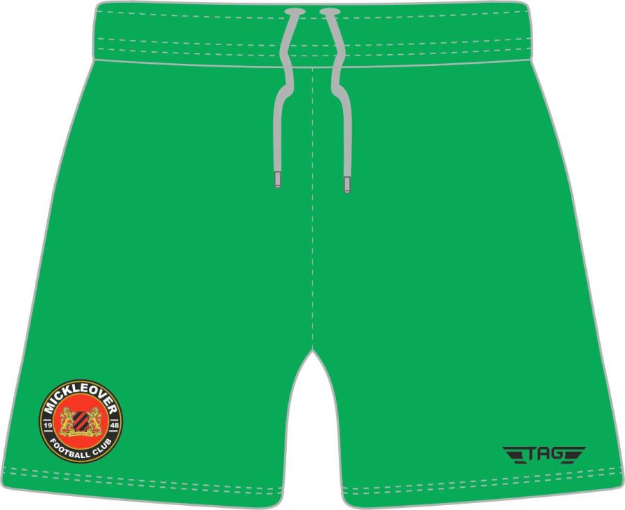 C4O. Mickleover FC Green GK Short - Child