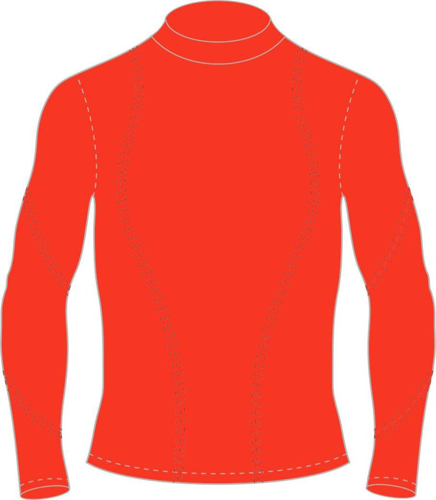C5D. Mickleover FC Long Sleeve Baselayer Top - Red - Adult