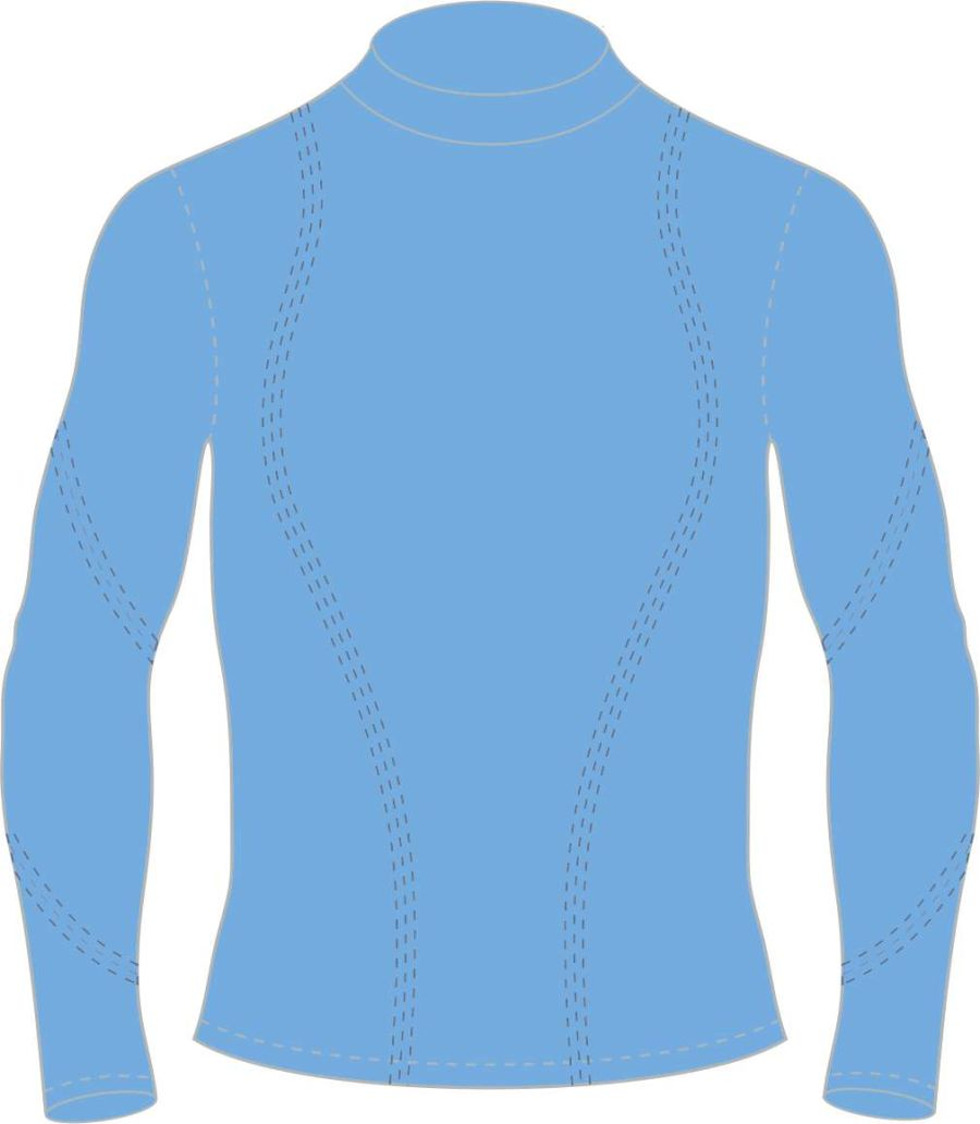 C5E. Mickleover FC Long Sleeve Baselayer Top - Sky - Child